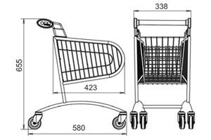 Tech-Wózki sklepowe-Damix-AVANT p20-Bako2000