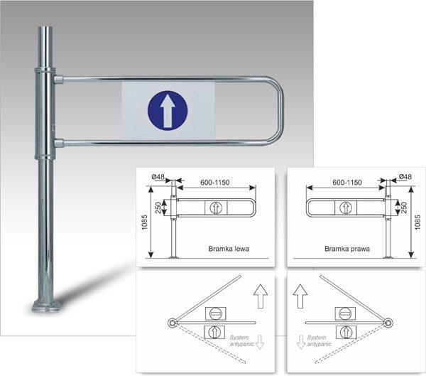tech-Damix-systemy prowadzenia -Bramka przykasowa-PortaeM1-Bako2000