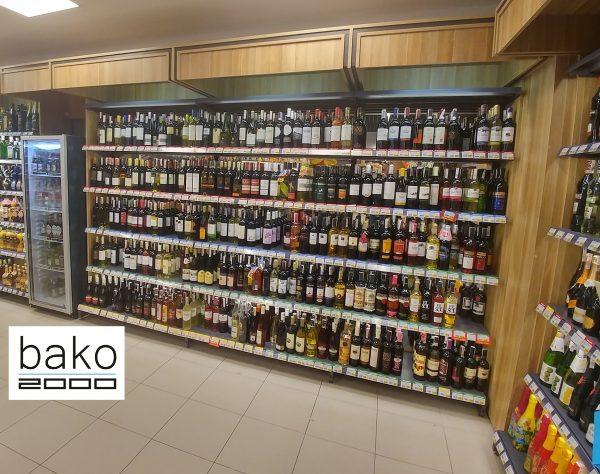 Regał-alkoholowy-BANO-wyposażenie-sklepów-regały sklepowe-Bako2000